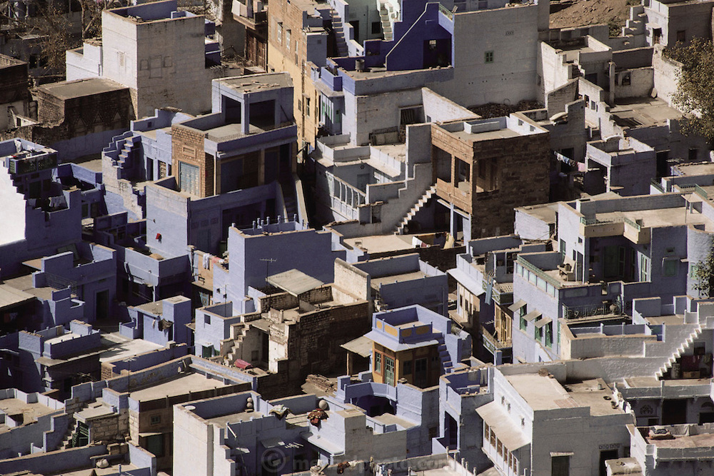 Houses in Jodhpur, India.
