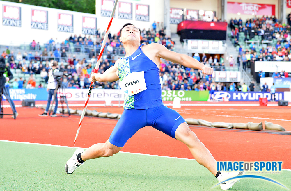 Chao-Tsun Cheng (TPE) places third in the javelin at 276-7 (84.30m)during the 54th  Bislett Games in an IAAF Diamond League meet in Oslo, Norway, Thursday, June 13, 2019. (Jiro Mochizuki/Image of Sport)