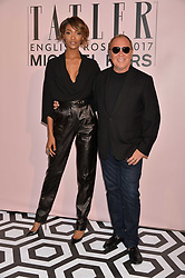 Michael Kors and Jourdan Dunn at the Tatler's English Roses 2017 party in association with Michael Kors held at the Saatchi Gallery, London England. 29 June 2017.<br /> Photo by Dominic O'Neill/SilverHub 0203 174 1069 sales@silverhubmedia.com