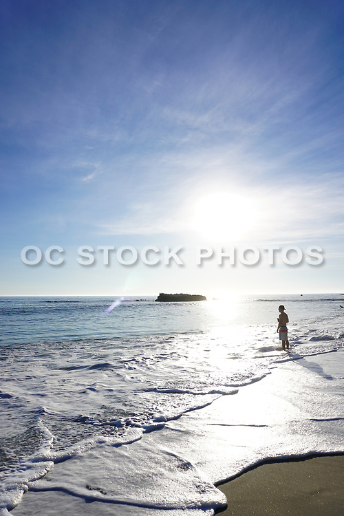 Guy Standing on the Shore in Laguna Beach
