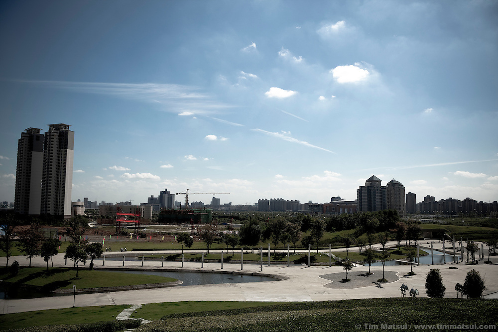 "The ""New City,"" part of the expansion of Yangzhou, China, a suburb city of Shanghai and major producer of photovoltaic cells for the renewable energy solar power industry."