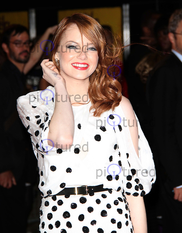 Emma Stone The Help UK Premiere, Curzon Mayfair Cinema, London, UK. 05 October 2011. Contact: Rich@Piqtured.com +44(0)7941 079620 (Picture by Richard Goldschmidt)