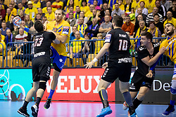 William Accamray of RK Celje Pivovarna Lasko during handball match between RK Celje Pivovarna Lasko (SLO) and HC PPD Zagreb (CRO) in Group phase of VELUX EHF Men's Champions League 2018/19, November 18, 2018 in Arena Zlatorog, Celje, Slovenia. Photo by Urban Urbanc / Sportida