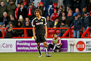 Watford defender, on loan from Chelsea, Nathan Ake  during the The FA Cup fourth round match between Nottingham Forest and Watford at the City Ground, Nottingham, England on 30 January 2016. Photo by Simon Davies.