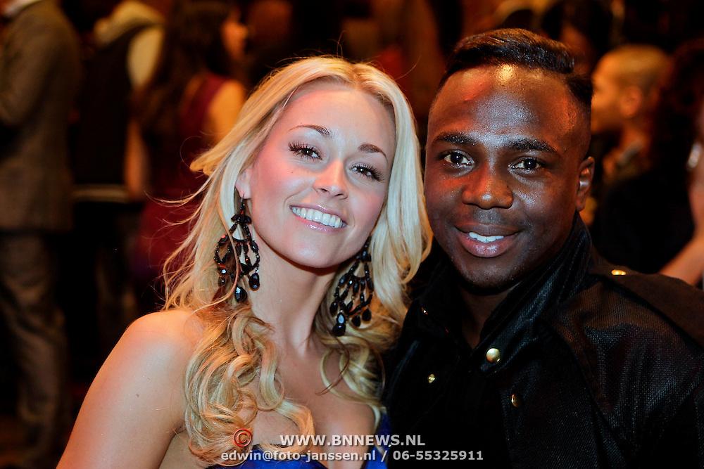 NLD/Amsterdam/20111004 - Premiere Body Language, Ingrid Jansen en partner Roy Julen