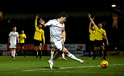 Chris Martin of Fulham scores a goal but it is disallowed for offside - Mandatory by-line: Robbie Stephenson/JMP - 01/02/2017 - FOOTBALL - Pirelli Stadium - Burton Upon Trent, England - Burton Albion v Fulham - Sky Bet Championship