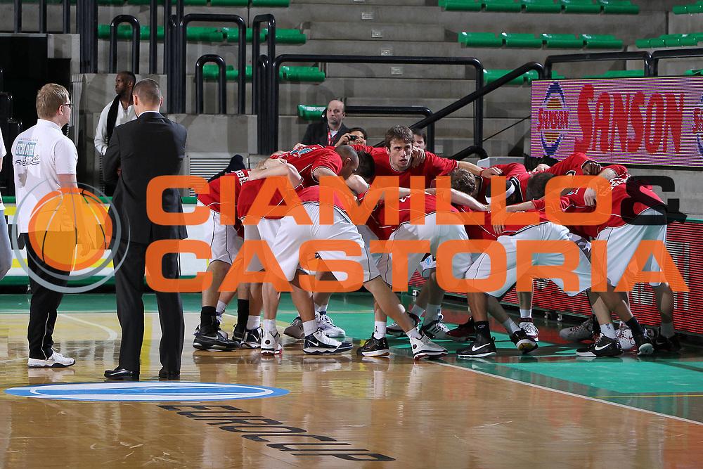 DESCRIZIONE : Treviso Eurocup 2009-10 Last 16 Benetton Gioco Digitale Brose Basket<br /> GIOCATORE : Team Brose Baskets<br /> SQUADRA : Brose Baskets<br /> EVENTO : Eurocup 2009 - 2010<br /> GARA : Benetton Gioco Digitale Brose Basket<br /> DATA : 09/03/2010<br /> CATEGORIA : Curiosita<br /> SPORT : Pallacanestro<br /> AUTORE : Agenzia Ciamillo-Castoria/M.Gregolin<br /> Galleria : Eurocup 2009<br /> Fotonotizia : Treviso Eurocup 2009-10 Last 16 Benetton Gioco Digitale Brose Basket<br /> Predefinita :
