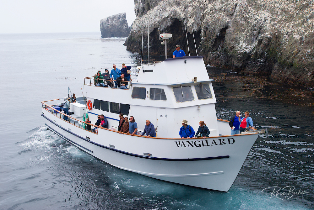 Island Packers boat landing at east Anacapa Island, Channel Islands National Park, California
