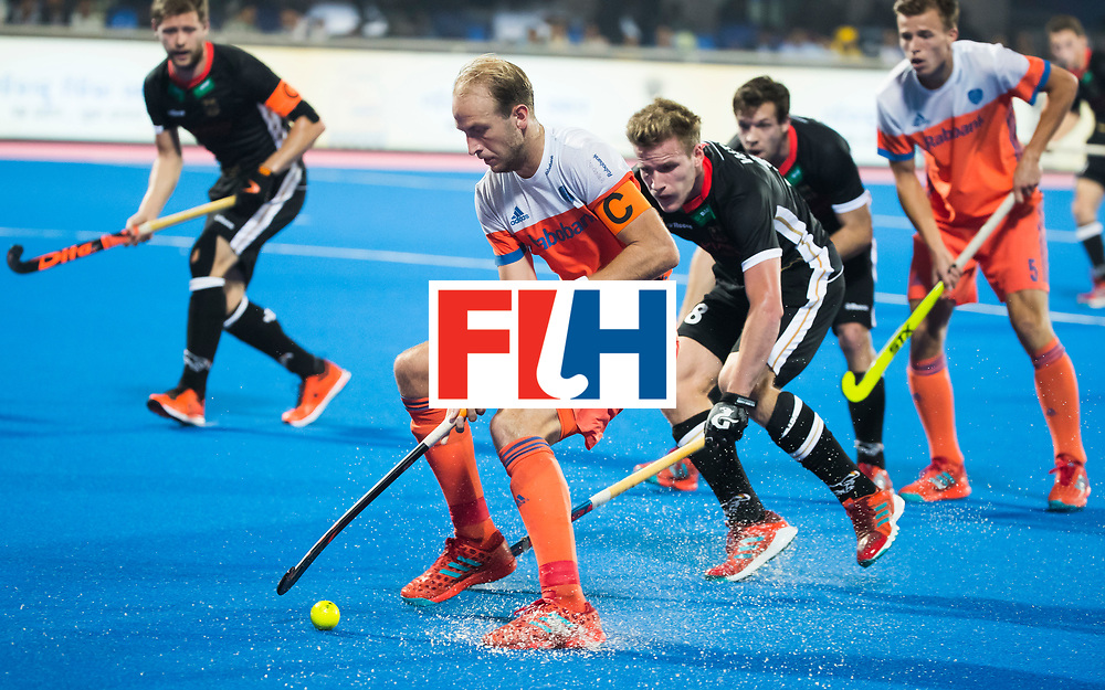 BHUBANESWAR - Billy Bakker (Ned) tijdens de Hockey World League Finals , de kwartfinale wedstrijd Duitsland-Nederland (3-3).Duitsland wint na shoot-outs.    COPYRIGHT KOEN SUYK