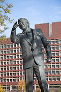 Statue of Sir Bobby Robson, Ipswich, Suffolk, England