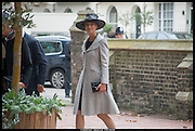 LADY GABRIELA WINDSOR, Memorial service for Mark Shand.  . St. Paul's Knightsbridge. September 11 2014.