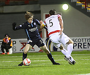 Dundee's Craig Wighton goes past Hamilton's Marin Canning -  Hamilton Academical v Dundee, SPFL Premiership at New Douglas Park<br /> <br />  - &copy; David Young - www.davidyoungphoto.co.uk - email: davidyoungphoto@gmail.com