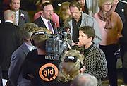Nederland, Arnhem, 18-3-2015Uitslag provinciale staten verkiezingen in het provinciehuis.Marjolein Faber staat de pers te woord..Foto: Flip Franssen