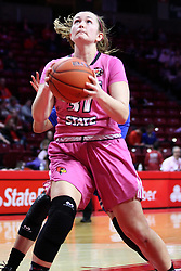 NORMAL, IL - February 10: Kayel Newland during a college women's basketball Play4Kay game between the ISU Redbirds and the Indiana State Sycamores on February 10 2019 at Redbird Arena in Normal, IL. (Photo by Alan Look)