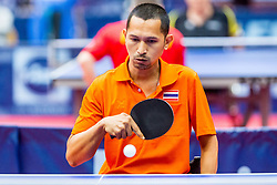 (THA) LAOWONG Anurak in action during 15th Slovenia Open - Thermana Lasko 2018 Table Tennis for the Disabled, on May 10, 2018 in Dvorana Tri Lilije, Lasko, Slovenia. Photo by Ziga Zupan / Sportida
