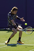 Rublev (RUS) Vs Purcell (AUS) Action at the Nature Valley International Eastbourne 2019 at Devonshire Park, Eastbourne, United Kingdom on 22 June 2019. Picture by Jonathan Dunville