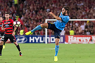 February 18, 2017:  Sydney FC midfielder Joshua BRILLANTE (6) misses the goal at Round 20 of the 2016 Hyundai A-League match, between Western Sydney Wanderers and Sydney FC, played at ANZ Stadium in Sydney.