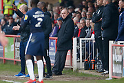 Accrington Stanley Manager John Coleman during the EFL Sky Bet League 1 match between Accrington Stanley and Southend United at the Fraser Eagle Stadium, Accrington, England on 23 February 2019.