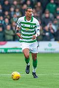 Christopher Jullien (#2) of Celtic FC runs forward during the Ladbrokes Scottish Premiership match between Livingston FC and Celtic FC at The Tony Macaroni Arena, Livingston, Scotland on 6 October 2019.