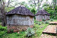 Cabins in Chorro de Maita, Holguin, Cuba.