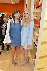 Left to right, ROXIE NAFOUSI and DIANA VICKERS at the launch the Folli Follie Flagship store at 493 Oxford Street, London on 28th May 2015.