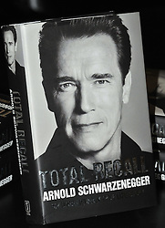 Arnold Schwarzenegger book signing.  Arnold Schwarzenegger, Hollywood actor turned Governor of California, in the UK to promote his eagerly awaited autobiography Total Recall: My Unbelievably True Life Story, signs copies.  Waterstone's, Piccadilly, London, United Kingdom, October 15, 2012. Photo by Nils Jorgensen / i-Images.