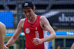 04-01-2020 NED: NK Beach volleyball Indoor, Aalsmeer<br /> Sven de Koe #2