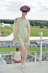 JADE PARFITT at the Investec Derby 2015 at Epsom Racecourse, Epsom, Surrey on 6th June 2015.