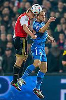 ROTTERDAM - 03-03-2016, Feyenoord - AZ, stadion de Kuip, 3-1, Feyenoord speler Dirk Kuyt, AZ speler Ron Vlaar.