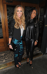 The Only Way Is Essex stars Lauren Pope and Danni Park Dempsey at The Groucho Club in Soho, London, UK. 18/12/2012<br />