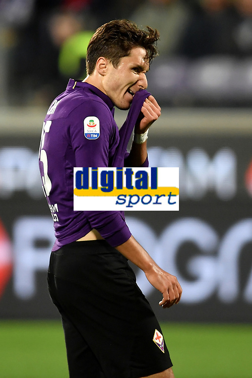 Federico Chiesa of Fiorentina reacts during the Serie A 2018/2019 football match between ACF Fiorentina and AS Roma at stadio Artemio Franchi, Firenze, November 03, 2018 <br />  Foto Andrea Staccioli / Insidefoto