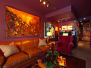 Live/work home offices are on the rise in Saskatoon. Happy Grove and Adrian Stimson have turned this former grocery store into a design and art studio, with their home above..Artwork:.Art work by:.Helen Mackie and not sure of the drawing.Todd Towers and Jason Bartokis.Wally Dion and Donna Jopling.Jason Bartokis and Todd Towers