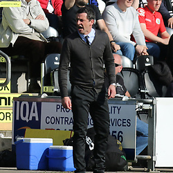 Jack Ross wasnt happy during the St Mirren v Dumbarton Scottish Championship 08 April 2017<br /> <br /> <br /> <br /> <br /> <br /> (c) Andy Scott | SportPix.org.uk