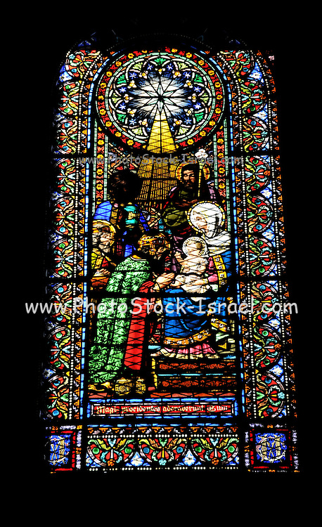 Santa Maria de Montserrat Abbey, Catalonia, Spain Stained Glass window