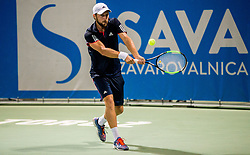 Tom Kocevar Desman (SLO) in action during Day 5 at ATP Challenger Zavarovalnica Sava Slovenia Open 2018, on August 7, 2018 in Sports centre, Portoroz/Portorose, Slovenia. Photo by Vid Ponikvar / Sportida