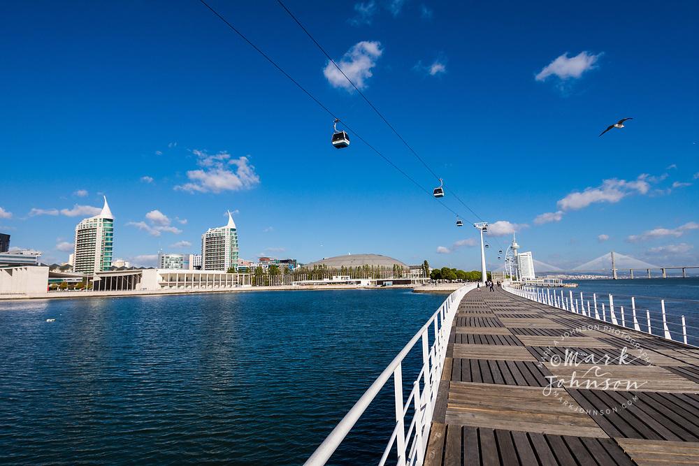 Telecabine aerial tramway, Parque das Nações, Lisbon, Portugal