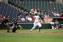 09 June 2011: Colin Moro bats during a game between the Lake Erie Crushers and the Normal Cornbelters at the Corn Crib in Normal Illinois.