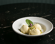 An ice cream dish at Lento at Village Gate on Wednesday, March 25, 2015.