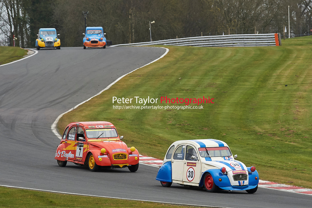 #30 Sandro PROIETTI Citroen 2CV 602 during 2CVParts.com Classic Championship as part of the BARC NW - Championship Raceday  at Oulton Park, Little Budworth, Cheshire, United Kingdom. March 19 2016. World Copyright Peter Taylor/PSP. Copy of publication required for printed pictures.  Every used picture is fee-liable.
