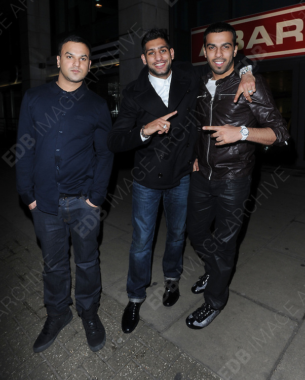 20.FEBRUARY.2012. LONDON<br /> <br /> WILL.I.AM AND AMIR KHAN AT THE ROSE CLUB IN MAYFAIR, LONDON<br /> <br /> BYLINE: EDBIMAGEARCHIVE.COM<br /> <br /> *THIS IMAGE IS STRICTLY FOR UK NEWSPAPERS AND MAGAZINES ONLY*<br /> *FOR WORLD WIDE SALES AND WEB USE PLEASE CONTACT EDBIMAGEARCHIVE - 0208 954 5968*