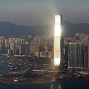 At 118 storyes International Commerce Centre on Kowloon is the tallest building in Hong Kong and the eighth tallest in the world. 7 million people live on 1,104km square, making it Hong Kong the most vertical city in the world.