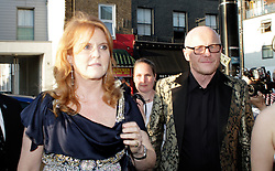 Novak Djokovic Foundation - London Gala Dinner<br /> Sarah Ferguson and John Cauldwell  attends the inaugural London fundraiser in aid of tennis champion's foundation raising funds for vulnerable and disadvantaged children, especially in his native Serbia. Takes place day after men's Wimbledon final. Roundhouse, Chalk Farm Road, London, United Kingdom<br /> Monday, 8th July 2013<br /> Picture by Mike  Webster / i-Images