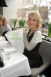 SAHAR HASHEMI at a lunch to celebrate the launch of the Top Tips for Girls website (toptips.com) founded by Kate Reardon held at Armani, Brompton Road, London on 5th March 2007.<br />