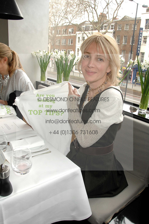 SAHAR HASHEMI at a lunch to celebrate the launch of the Top Tips for Girls website (toptips.com) founded by Kate Reardon held at Armani, Brompton Road, London on 5th March 2007.<br /><br />NON EXCLUSIVE - WORLD RIGHTS