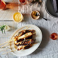 Spiced Honey Orange Chicken Skewers