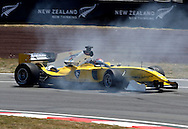 Team Malaysia and driver Fairuz Fauzy spins out during  the A1 GP Official Practice for Rookies and Developing Nations, Taupo, New Zealand, Friday 23 January 2009. Photo: PHOTOSPORT/SPORTZPICS