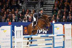 Kuipers Doron (NED) - Dynamo<br /> KWPN Stallion Selection - 's Hertogenbosch 2014<br /> © Dirk Caremans