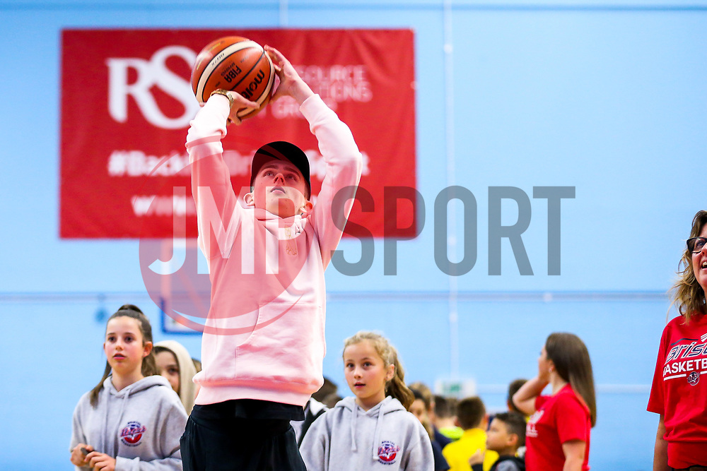 Half time free throw comp - Rogan/JMP - 11/11/2017 - BASKETBALL - SGS Wise Arena - Bristol, England. - Bristol Flyers v Glasgow Rocks - British Basketball League.