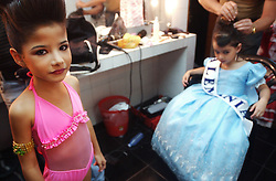 Contestants get prepared during the Miss Mini Universe competition for children ages 6-10.  Venezuela has a deep culture of beauty, fashion and sex appeal. There are dozens of beauty pageants throughout the year for boys and girls of all ages..