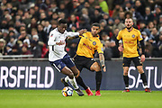 Victor Wanyama of Tottenham Hotspur and Joss Labadie of Newport County during the The FA Cup fourth round replay match between Tottenham Hotspur and Newport County at Wembley Stadium, London, England on 6 February 2018. Picture by Toyin Oshodi.